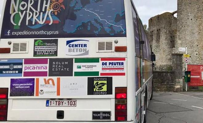 ''Expedition North Cyprus'' otobüsü Belçika'dan yola çıktı