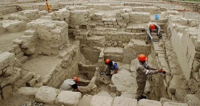 Baf'ta yapılan arkeolojik kazılarda bir obje bulundu