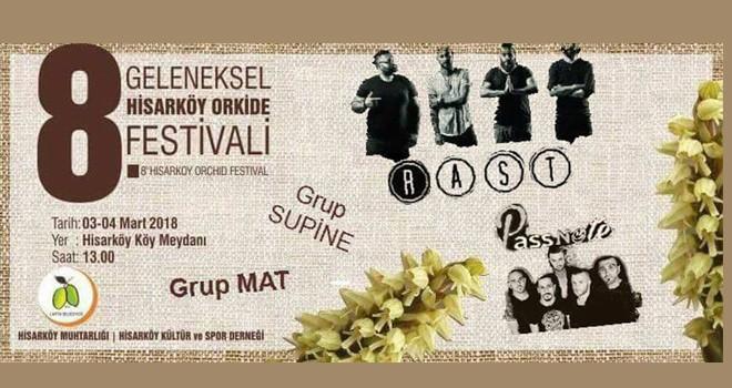 8. Geleneksel Hisarköy Orkide Festivali başladı