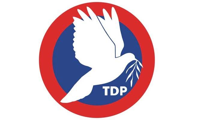 TDP: Çözüm çabaları kararlılıkla sürdürülmeli