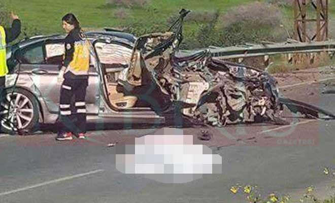 Lefkoşa-Girne yolunda ölümlü kaza