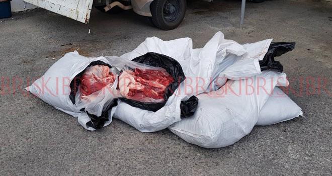 250 kilo kaçak et ele geçirildi