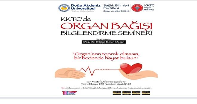 """""""KKTC'de Organ Bağışı Bilgilendirme Semineri"""" düzenleniyor"""