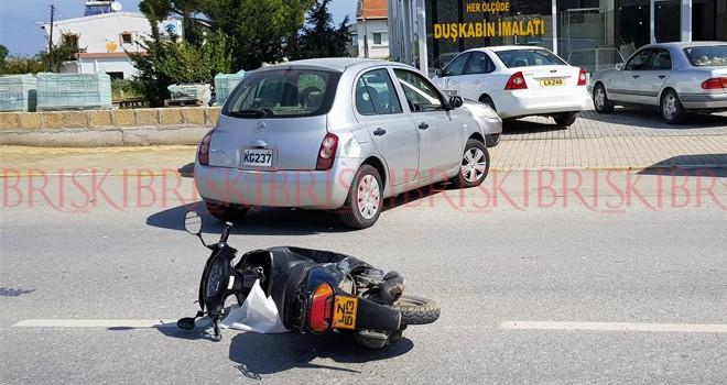 Karaoğlanoğlu'nda motor kazası