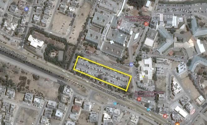 Lefkoşa Devlet Hastanesi'nin önündeki park yeri tadilat nedeniyle kapatılıyor
