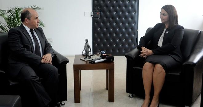 Başçeri, İçişleri Bakanı Baybars'ı ziyaret etti