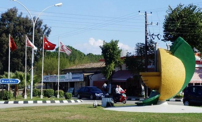Sözde Güzelyurt Belediye Başkanı Viktoras Hacıavraam ile Güzelyurt'u gezdiler