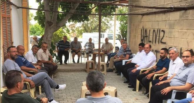 CTP Değirmenlik Belediye Başkan adayı Karavezirler Yeniceköy'ü ziyaret etti