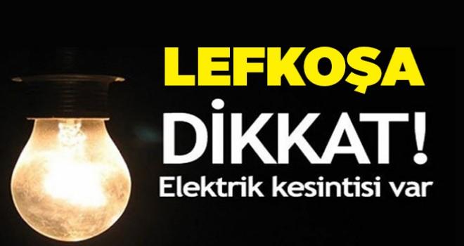 Başkentteki bazı bölgelere elektrik verilemiyor