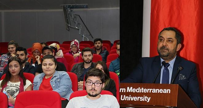 Hasgüler, öğrencilere, Kıbrıs siyasetini anlattı