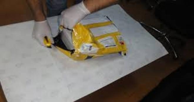 Postayla gelen paketten uyuşturucu çıktı