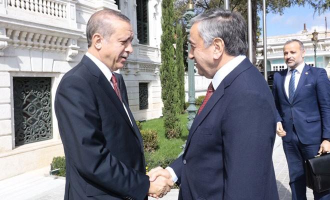 Akıncı-Erdoğan görüşmesi saat 17.00'de