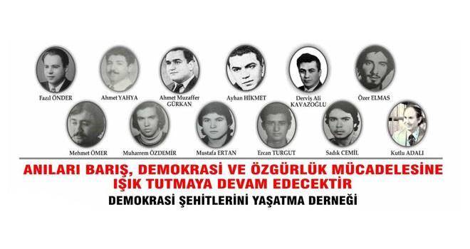 Demokrasi Şehitleri cumartesi anılacak