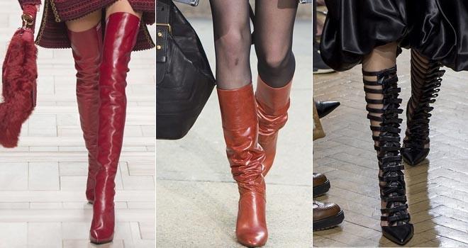 Tayt çizmeler yine moda