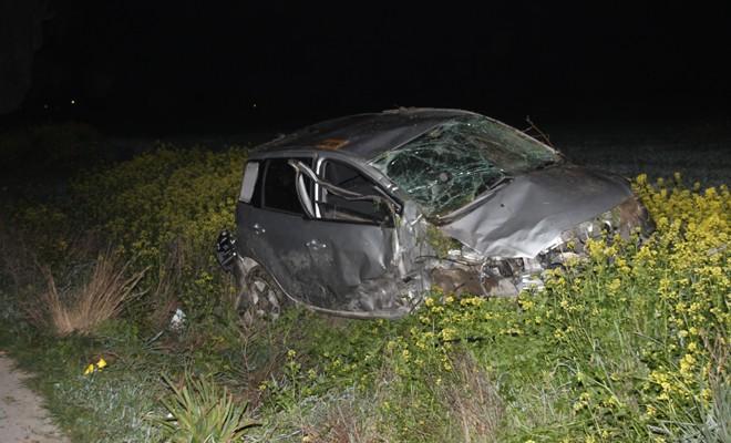 21 yaşındaki sürücü yaralandı