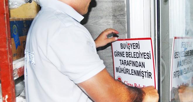 Girne'de 15 işletme mühürlendi