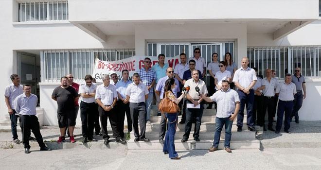 GÜÇ-SEN Girne Gümrük Şube Amirliği'nde 2 saatlik uyarı grevi yaptı