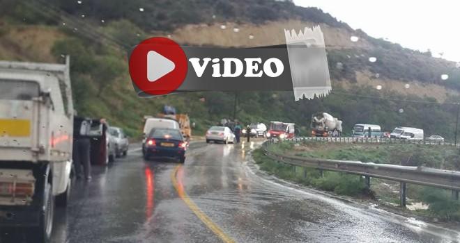 Çamlıbel - Geçitköy yolu kapandı