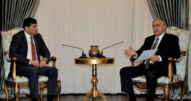 Cumhurbaşkanı Akıncı, Özgürgün'ü kabul etti