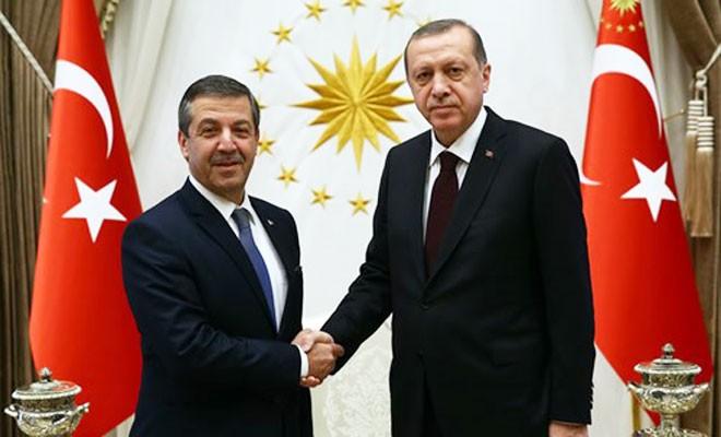 Erdoğan, Ertuğruloğlu'nu kabul etti