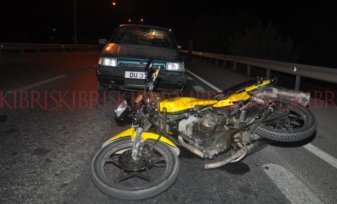 Motosiklet kazası: Biri ağır iki yaralı