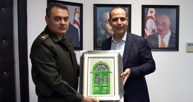 Harmancı 14 Zırhlı Tugay Komutanı'nı  kabul etti