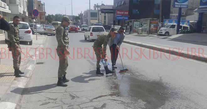 Ortaköy'de yaya kazası