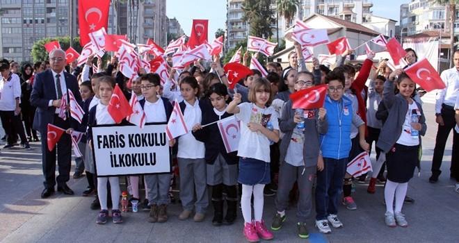 KKTC'nin kuruluş yıldönümü dolayısıyla Mersin'de tören düzenlendi