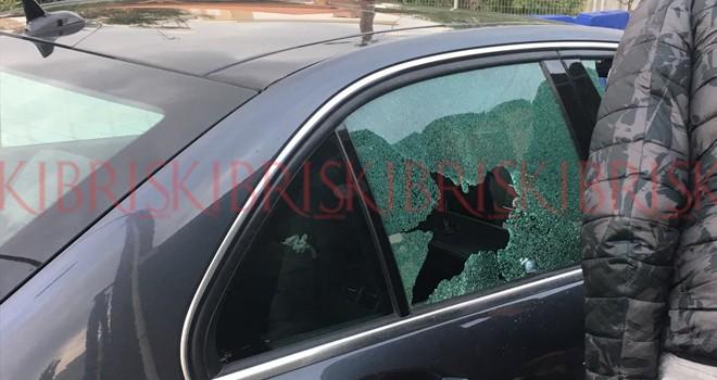 Güney'de Kıbrıslı Türk'ün aracına saldırı
