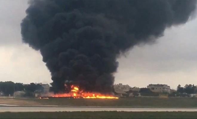 Malta'da uçak kazası