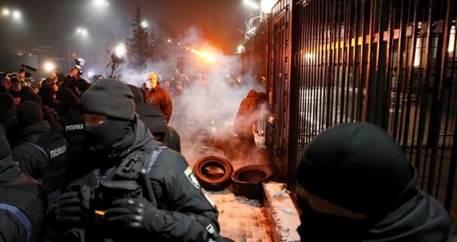Ukrayna'nın başkentinde Rusya protestosu