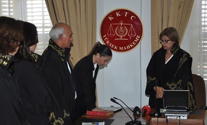 Lefke Kaza Mahkemesi Başkanı Cemaller yemin ederek görevine başladı