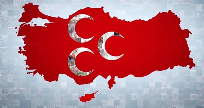 MHP propagandada tüm Kıbrıs'ı Türkiye'ye dahil etti