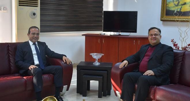 Çelebi, Tarım ve Doğal Kaynaklar Bakanı Şahali'yi ziyaret etti