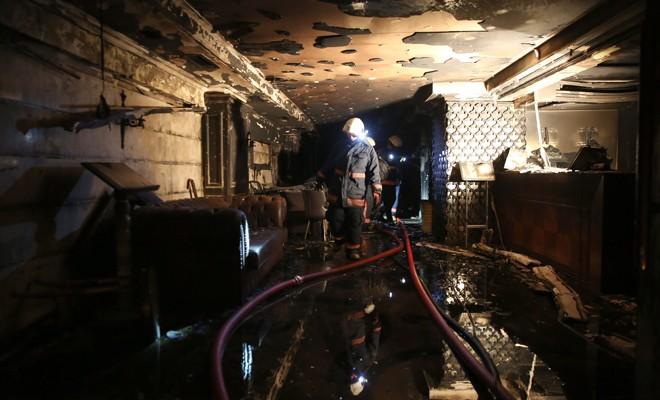 Otelde yangın dehşeti