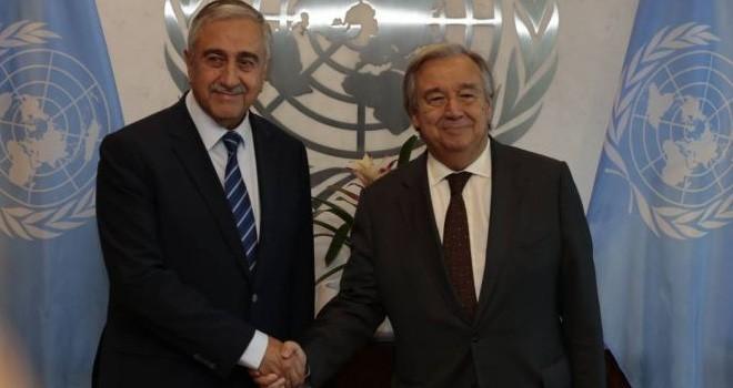 Akıncı, BM Genel Sekreteri Guterres ile görüşecek