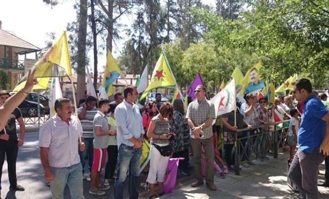 Güneyde yaşayan Kürtler Erdoğan'ı protesto etti