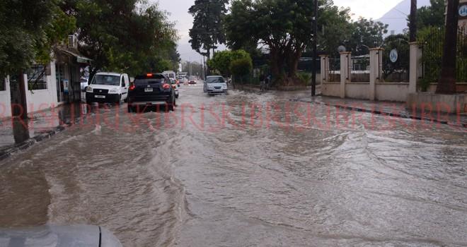 En fazla yağış Girne'ye düştü