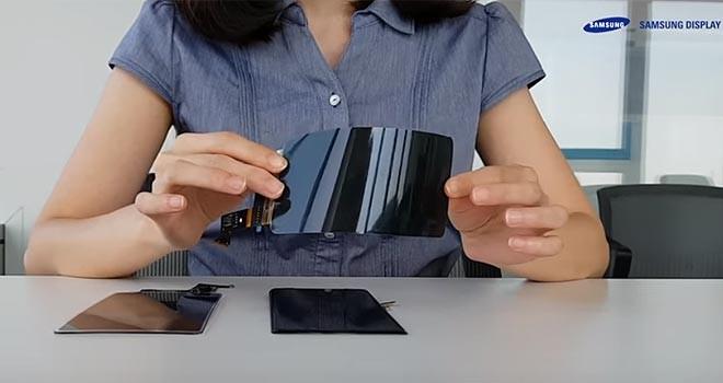 Samsung kırılmaz ekranını tanıttı