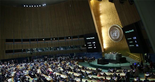 Üçlü zirve beyanı BM'de resmi belge olarak dağıtıldı