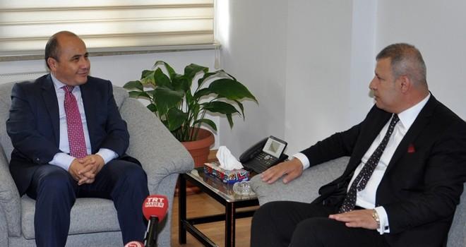 TC Lefkoşa Büyükelçisi Başçeri, KTSO yönetimini kabul etti