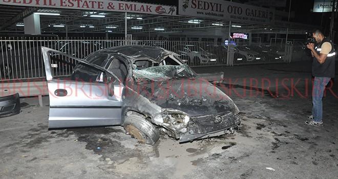 Alkollü sürücü kazada ağır yaralandı