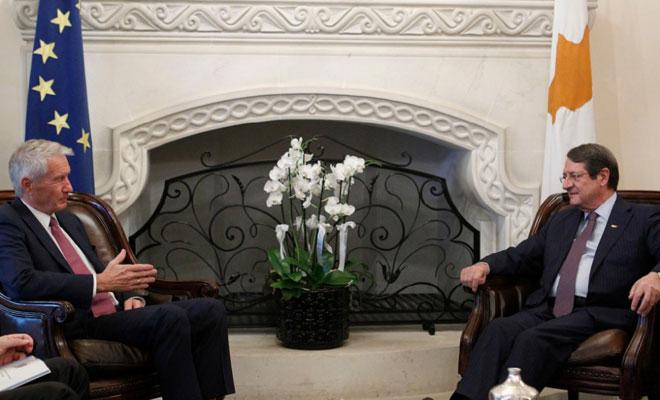 Anastasiadis Total'in YK Başkanıyla görüştü