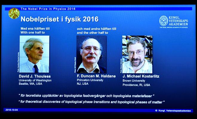 Nobel Fizik Ödülü'nü üç bilim adamı paylaştı