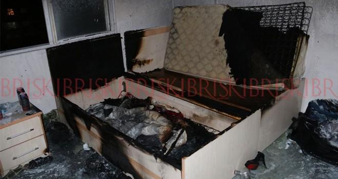 Sigara izmariti odayı yaktı