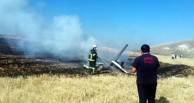 Adıyaman'da eğitim uçağı düştü, pilot öldü