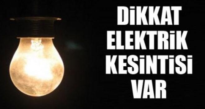 Akdeniz ve Sadrazam Köy'de yarın elektrik kesintisi olacak