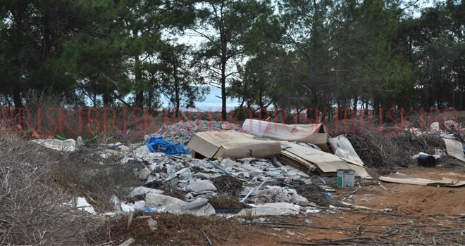 Bafra oteller bölgesi de çöplük oldu