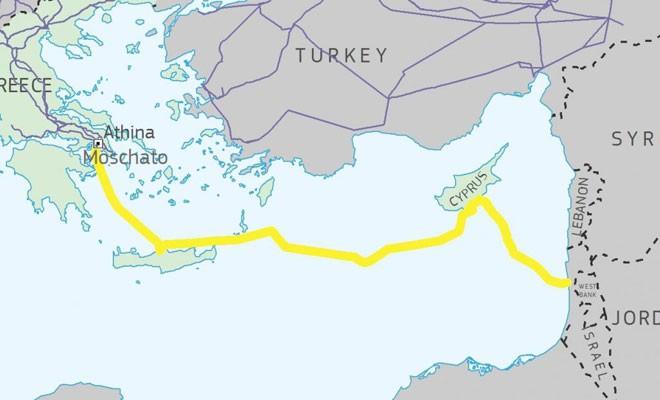 İsrail ile Kıbrıs üzerinden elektrik bağlantısına 14.5 milyon Euro