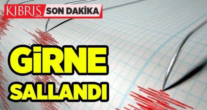 SALLANDIK: Girne'de 4.0 büyüklüğünde deprem